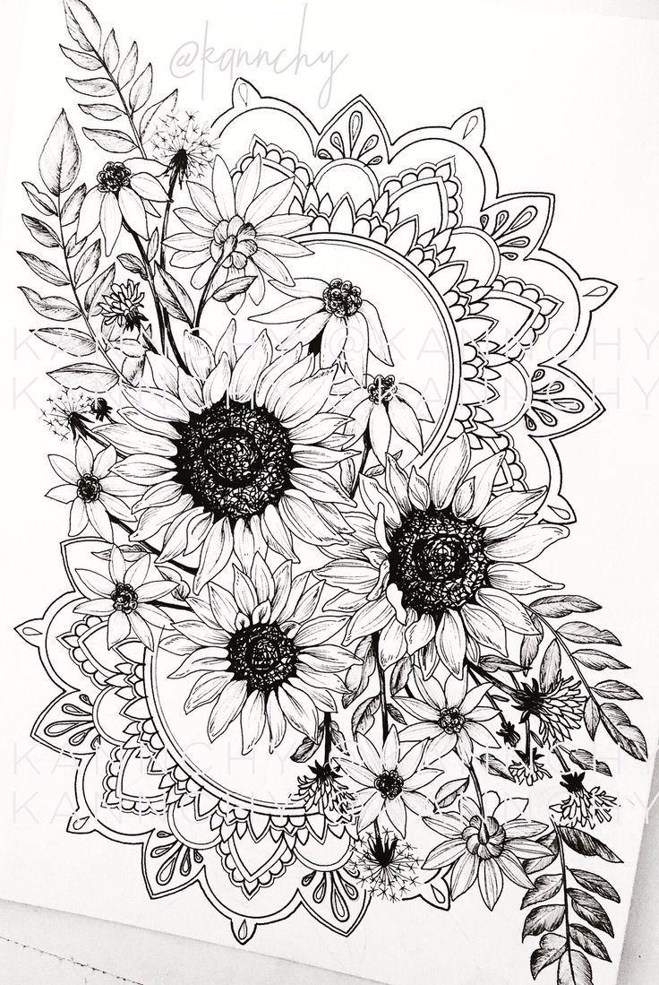 Gillian Videgar #SunflowerTattoo Gillian Videgar – #Anker #Bär #Blumen #Buch …