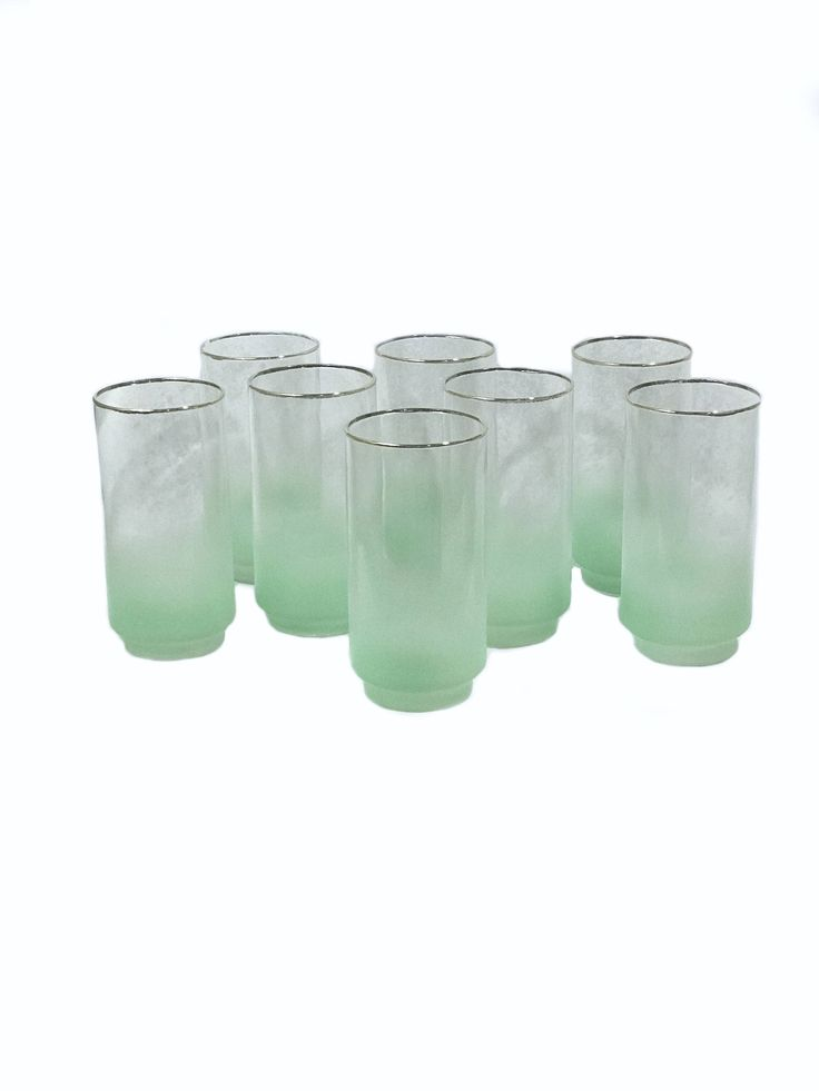 Looking for a gift? Start here 👉  Gold Trim Green Blendo Tumblers by Libbey - Midcentury Glassware https://www.etsy.com/listing/551253654/gold-trim-green-blendo-tumblers-by?utm_campaign=crowdfire&utm_content=crowdfire&utm_medium=social&utm_source=pinterest