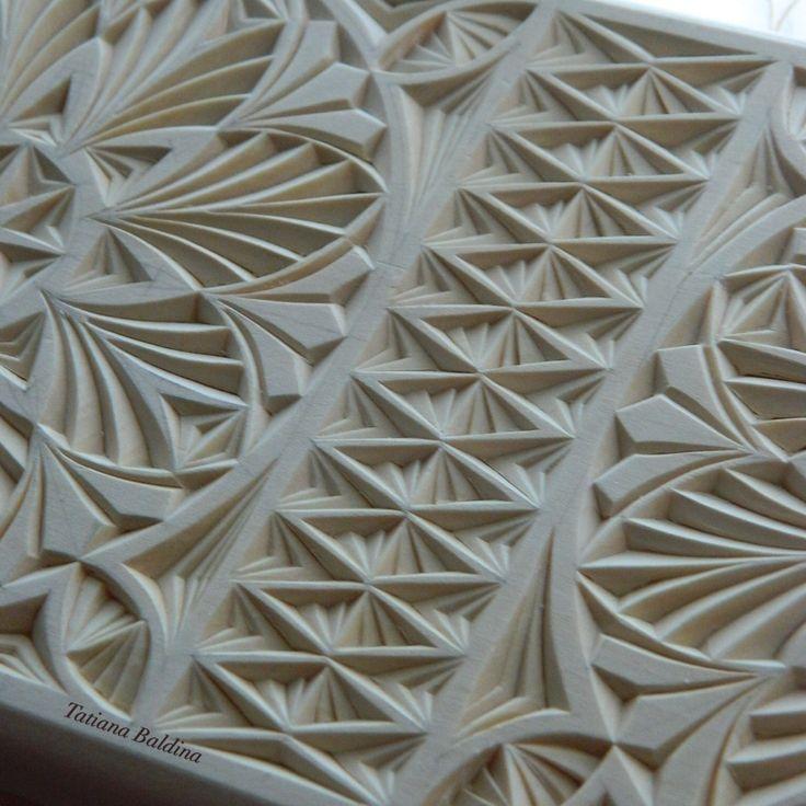 Chip carving by tatiana baldina https etsy shop