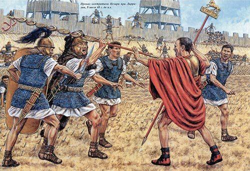 Julius Caesar In Battle Battle of Dyrrh...
