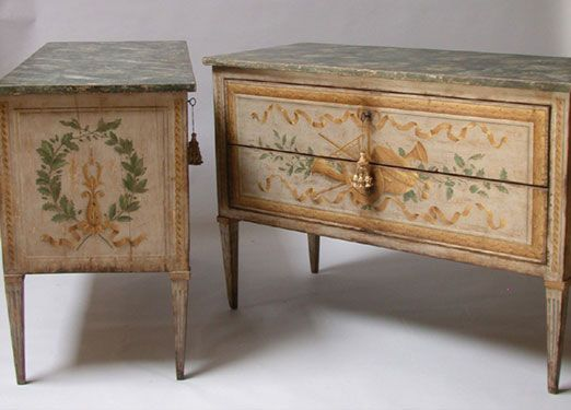 Love These Antique Painted Chests