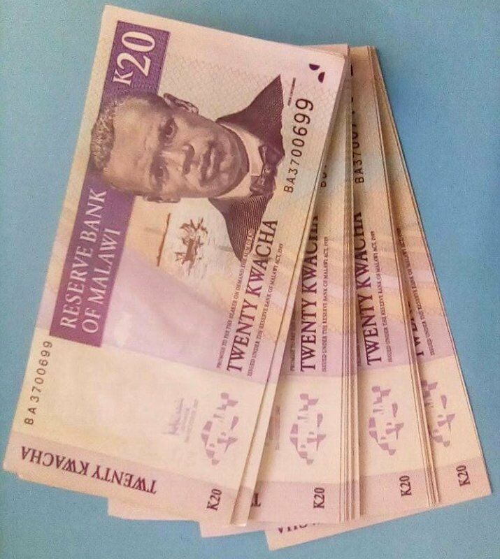 40 x 20 Billion Zimbabwe Dollars Bank Notes AA AB 2008 Currency Banknotes Bundle