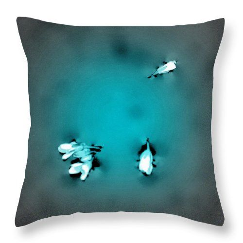Minimalist Throw Pillow featuring the photograph Blossoms by Michele Hancock