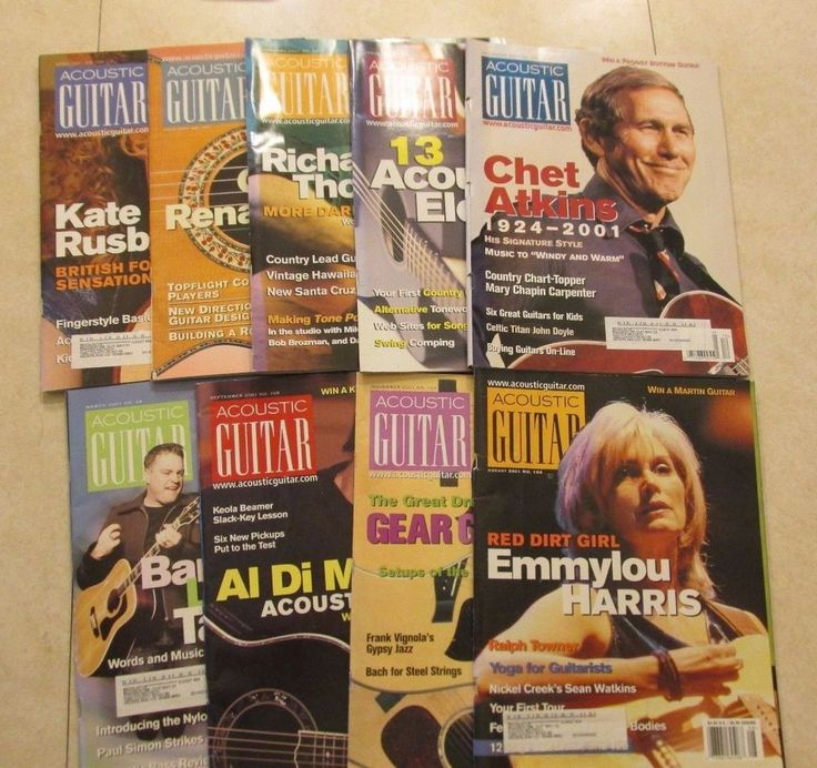 Year 2001  Acoustic Guitar Magazine 9 Issue lot Barenaked Ladies  And More!