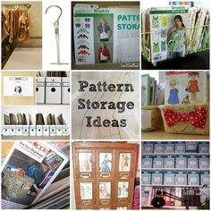 Let's get organized with some easy Pattern Storage Ideas. TheSewingLoft.com  #sewing #organize #patterns