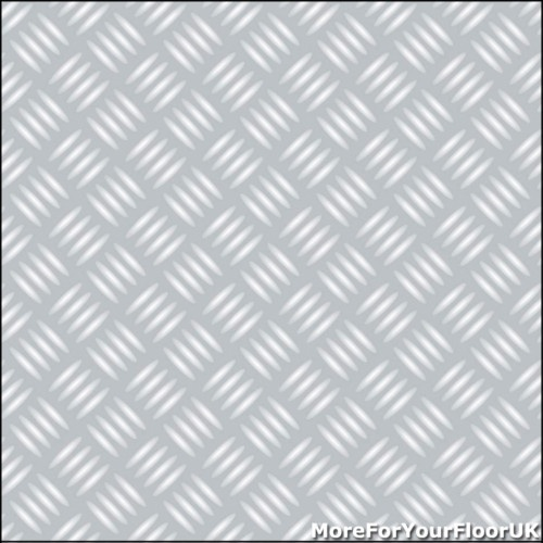 Chequered Plate Vinyl Flooring Silver Metal Lino, 4m   eBay £19.96 per m sq - For children's wcs and ambulant disabled wc