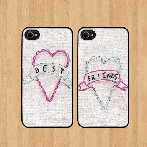A set of coordinating phone cases / 27 Tokens Of Friendship You Need To Buy For Your BFF Right Now (via BuzzFeed)