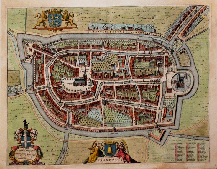 J. Blaeu, kaart van Franeker, Friesland, 1649