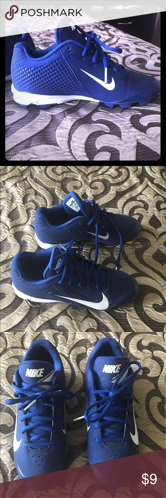 Baseball cleats Baseball cleats Vapore Keystone youth cleats. Blue and white, size 5 youth. Like new. Nike Shoes Athletic Shoes