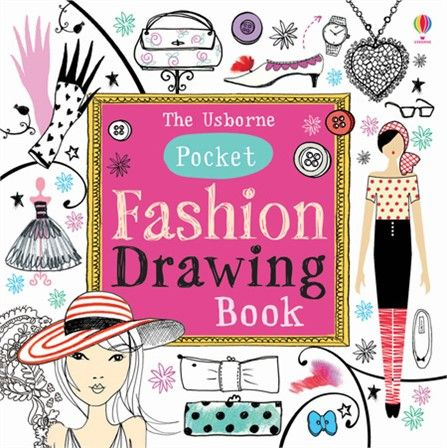 Pocket Fashion Drawing Book - perfect for young fashion designers to sketch on the go!  http://www.usborne.com/catalogue/book/1~A~ACD~8874/pocket-fashion-drawing-book.aspx  #pocket #fashion #draw #book #inspo #inspiration #design #creative #children #Usborne #art