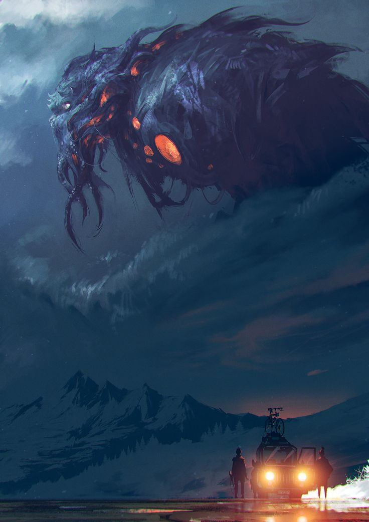 -The Call of Cthulhu-, ömer tunç on ArtStation at https://www.artstation.com/artwork/r0DNa
