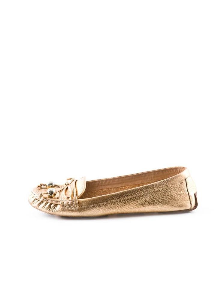 kate spade gold mocassins $75