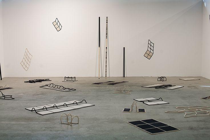 Pair et Impair , 2014, Wool felt and plexiglass, Variable size, , unique artwork, photo: Magali Joannon, Exhibition view at Art-O-Rama, 2014