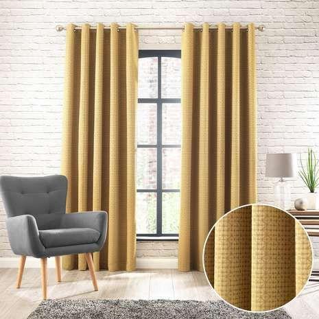 Samaitra Chartreuse Eyelet Curtains | Dunelm