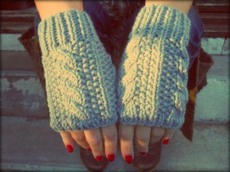 tutoriel mitaines en tricot