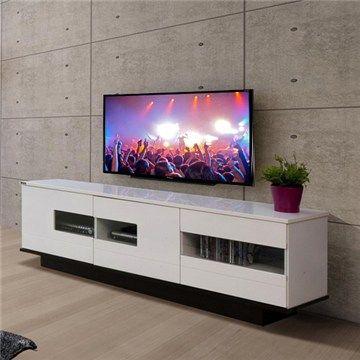 White High Gloss Door Waverley Lowline Plasma-LCD TV Cabinet Unit