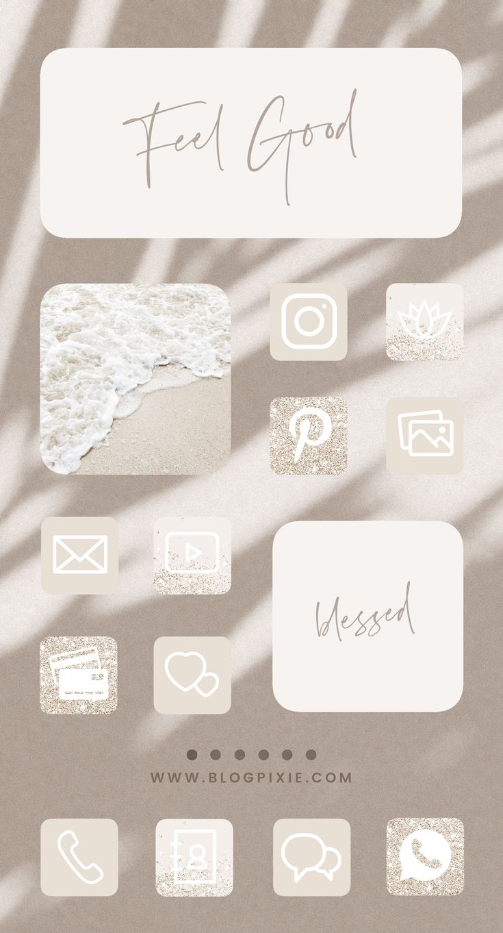 App icons neutral beige ios 14 aesthetic home screen