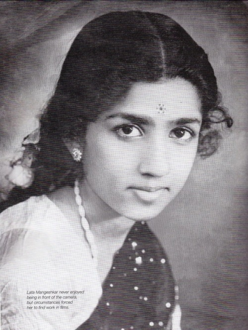 Lata Mangeshkar, one of the most recorded voices of all time. And what a voice! <3