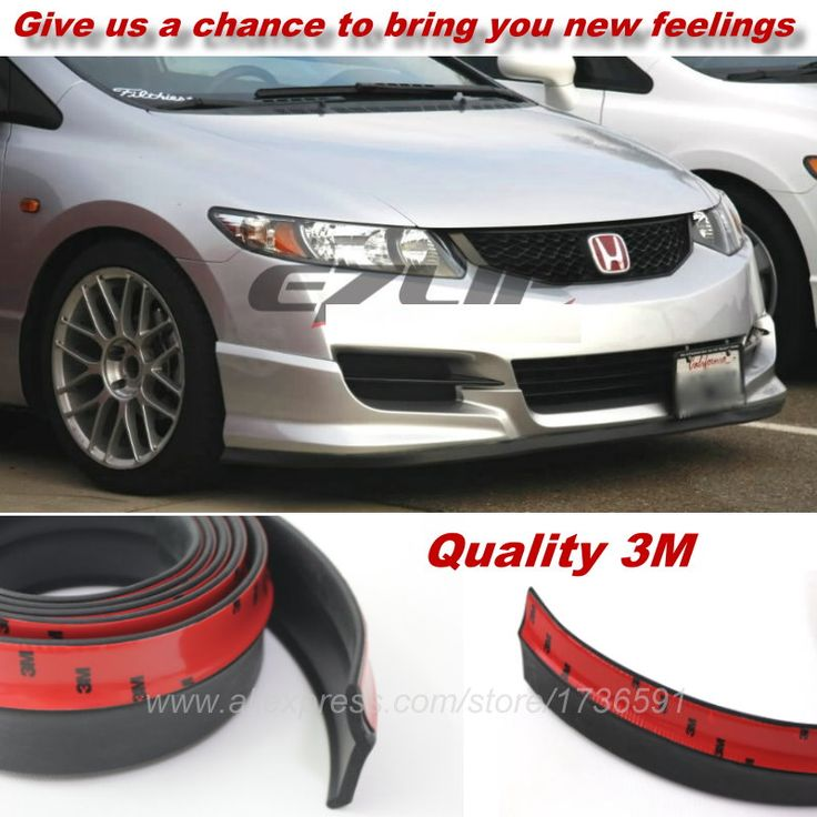 For HONDA Civic / Car  Bumper Lips / Spoiler For Car Tuning / Body Kit Strip / Front Tapes / Body Chassis Side Protection #Affiliate