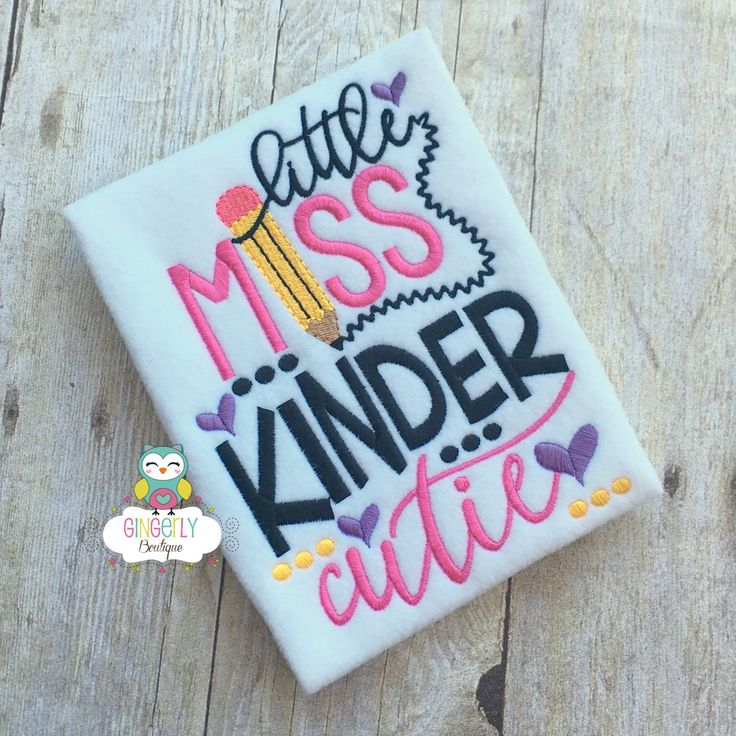 Little Miss Kinder Cutie Shirt,  Girl Back to School Shirt, First Day of School Shirt, Kindergarten Shirt, Little Miss School Shirt by GingerLyBoutique on Etsy