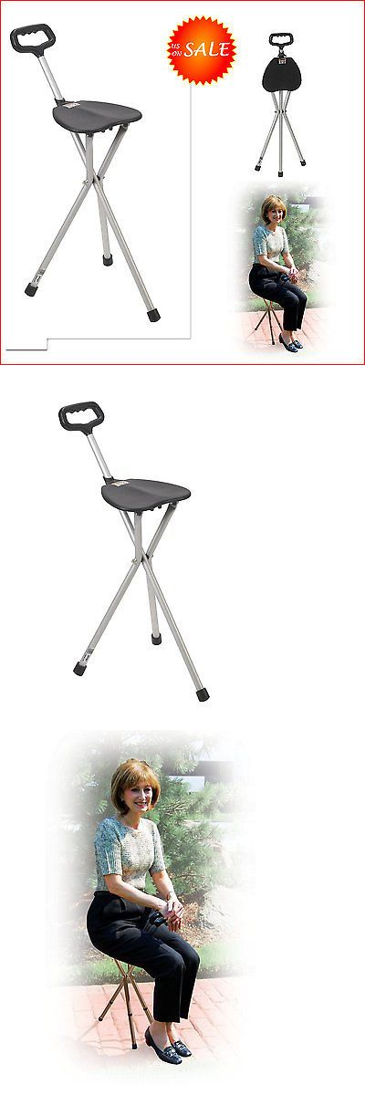 Walkers and Canes: Folding Walking Stick Cane Seat Portable Camp Hiking Chair Elderly Walker Stool -> BUY IT NOW ONLY: $35.95 on eBay!