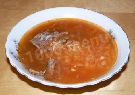 Суп с томатной пастой и рисом по-грузински