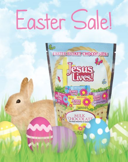 """Retail customers get 17% off all orders now till March 16th!  Use coupon code """"JESUSLIVES"""""""