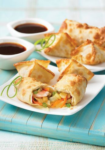 Air Fryer Egg Rolls  From 175 Best Air Fryer Recipes by Camilla V. Saulsbury review #appetizer