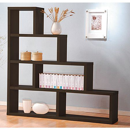 step shelves living room reside espresso divider 4 step shelving amp tables 16190