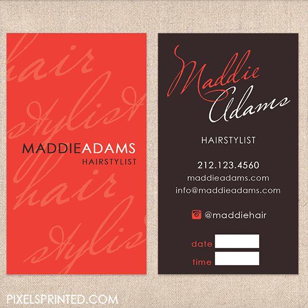 salon business card design