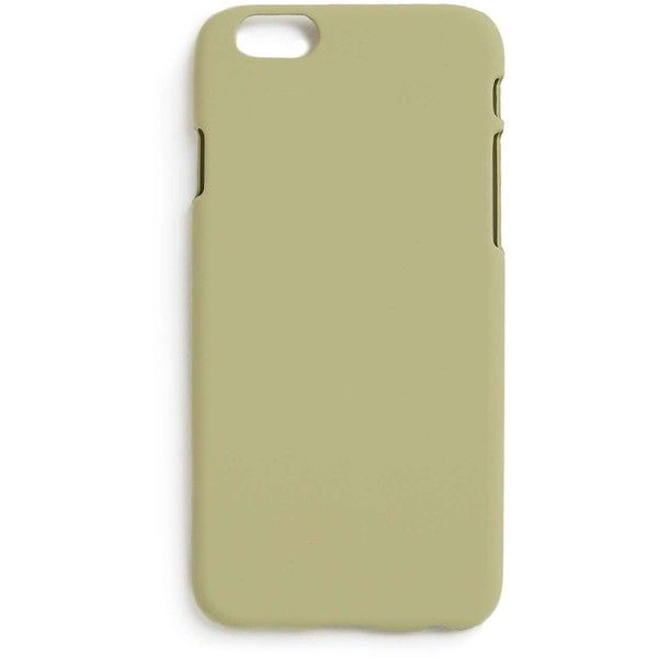 TOPMAN Matte Stone iPhone 6 Case ($7.86) ❤ liked on Polyvore featuring men's fashion, men's accessories, men's tech accessories, brown and topman