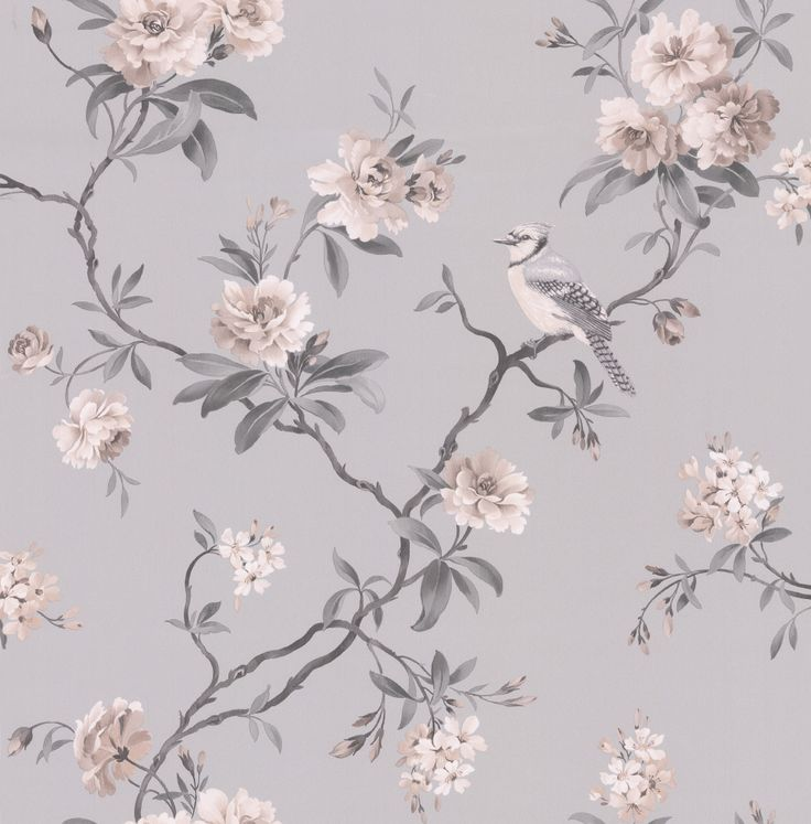 Bird Song Grey wallpaper by Albany