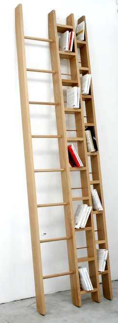 front standing ladder shelving looks very effective.