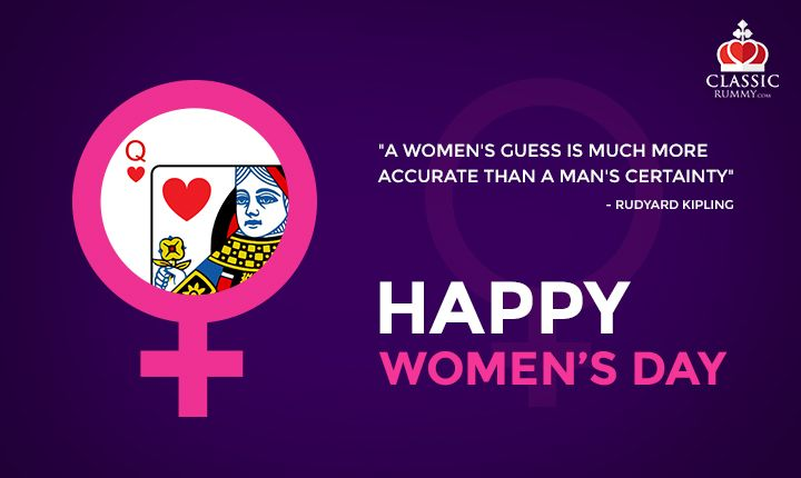 Classic Rummy Team Wishes Every Women A Happy Women's Day!  #rummy #classicrummy #womensday #IWD2016 #internationalwomensday