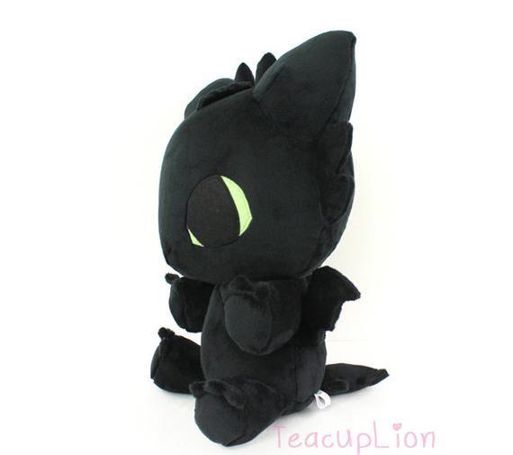 e67930f1a88 PDF sewing pattern Toothless Baby Dragon plushie kawaii