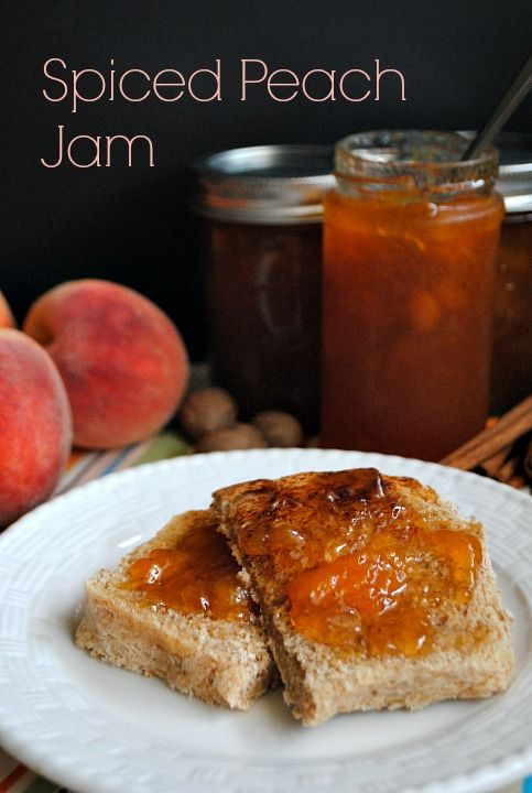 Spiced Peach Jam | www.you-made-that.com @Suzanne | You MadeThat?
