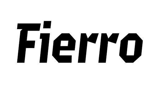 Fuente a la venta Publicada por Los Andes Type en 2011. Fierro es una construcción tipográfica que a pesar de carecer de curvas conserva una buena legibilidad. Contiene versiones las regular e Itálica, ambas en negrita. Su set de caracteres pe...