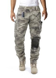 Amazon.com : Survival Tactical Gear Men's Airsoft Wargame Tactical Pants with Knee Protection System & Air Circulation System (Multicam, L) : Sports & Outdoors