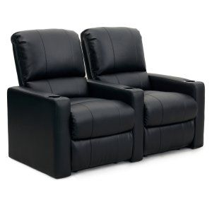 Octane Charger XS300 2 Seater Manual Recline Bonded Leather Home Theater Seating
