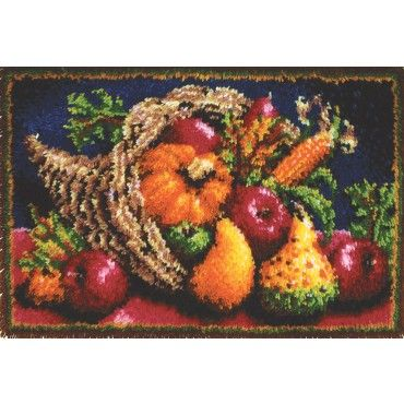 Mary Maxim   Country Harvest Latch Hook Rug Kit   Latch Hook Rug Kits    Latch
