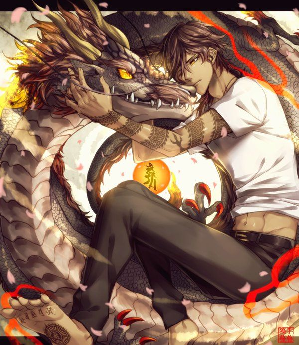 240 best images about ookurikara on pinterest lights - Anime boy dragon ...