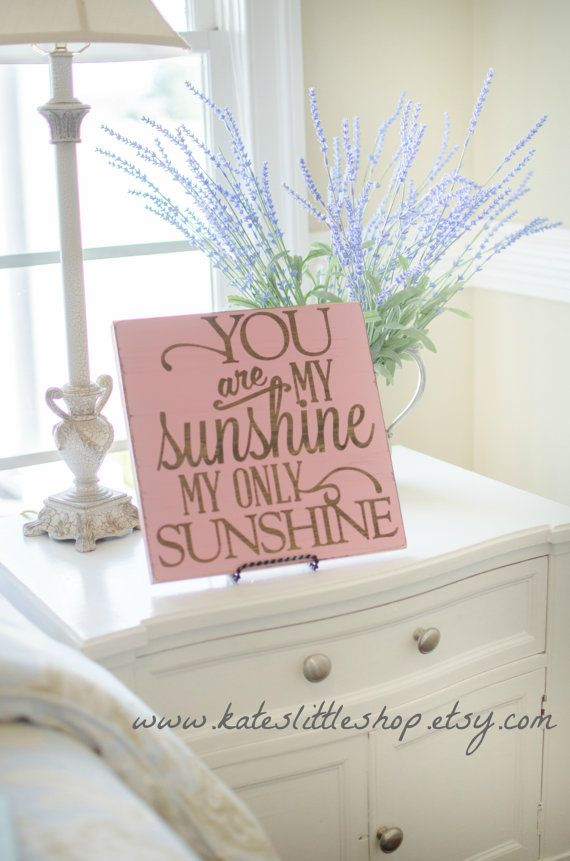Beautiful Staind And Hand Painted Wood Sign.You are My Sunshine Sign. Childrens Nursery Decor. Rustic Country Decor. Wood Sign. Decor.