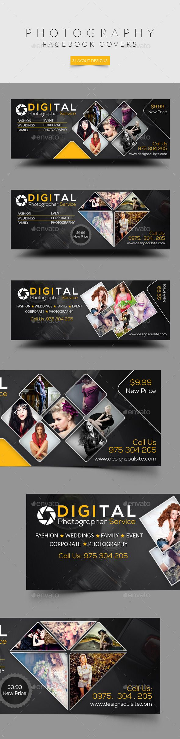 Photography Facebook Cover — Photoshop PSD #metro design #studio • Download here → https://graphicriver.net/item/photography-facebook-cover/12417673?ref=pxcr