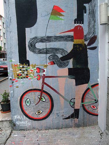Mural by TIKA & KOWALSKI( photo by Antonia Schulz) Istambul.