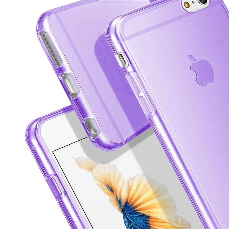 IPHONE 6S PLUS Hülle, Profer TPU Schutzhülle #purple #lila