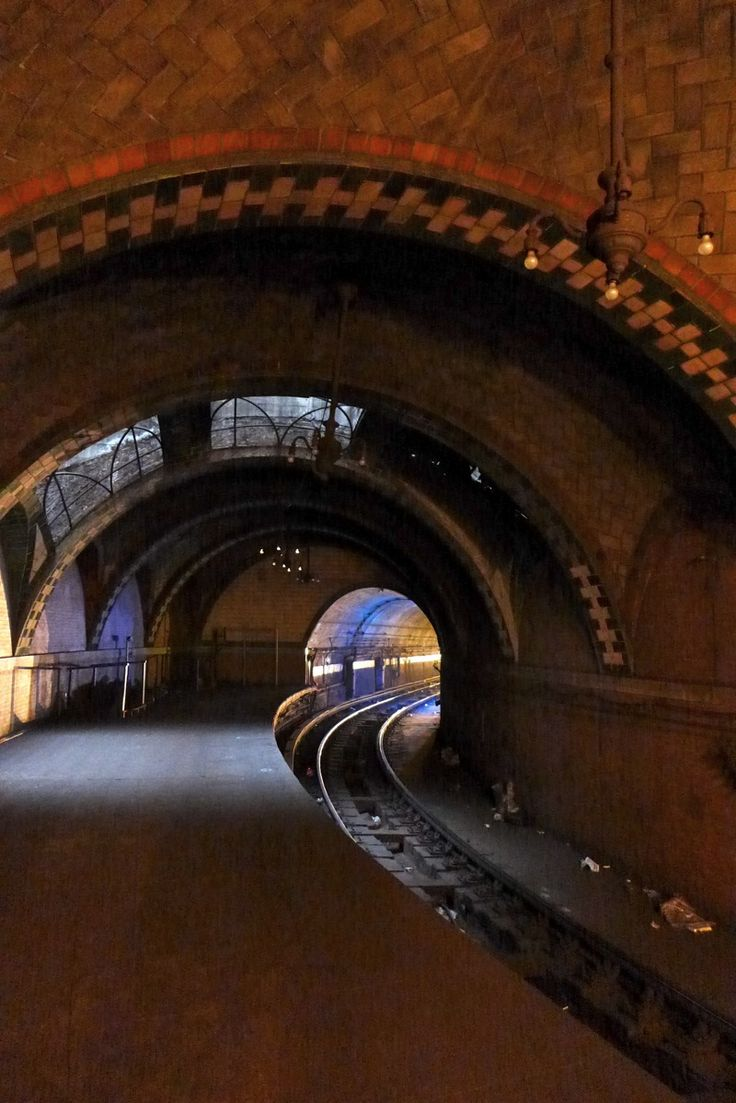 Deep under old New York City, USA, lies abandoned platforms, train tracks and entire train stations. Some, maybe glimpsed by passengers on some lines, others lay hidden behind doors or flights of stairs. The most startling, is the terminal which rests beneath City Hall Park, an opulent and beautiful show-piece, but deserted and largely forgotten since the 1940s. New York, NY.