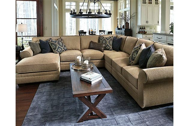 Amandine 5 Piece Sectional By Ashley Homestore Brown