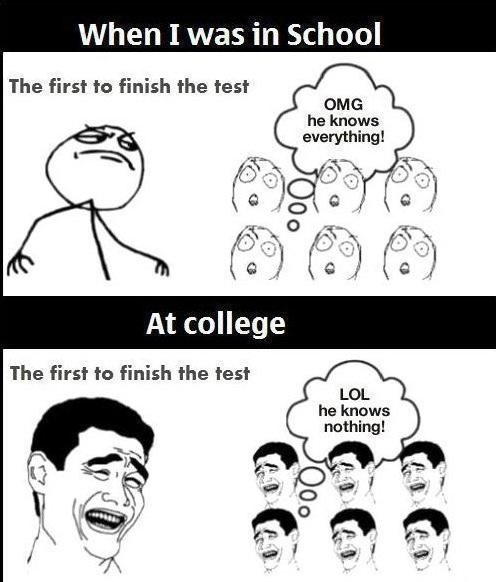 Funny - School vs. College - www.funny-pictures-blog.com