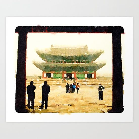 Seoul Grand Palace Art Print by Lindsay Shapka. Worldwide shipping available at Society6.com. Just one of millions of high quality products available, art for sale, original prints, travel art, support artists, where can I buy art online