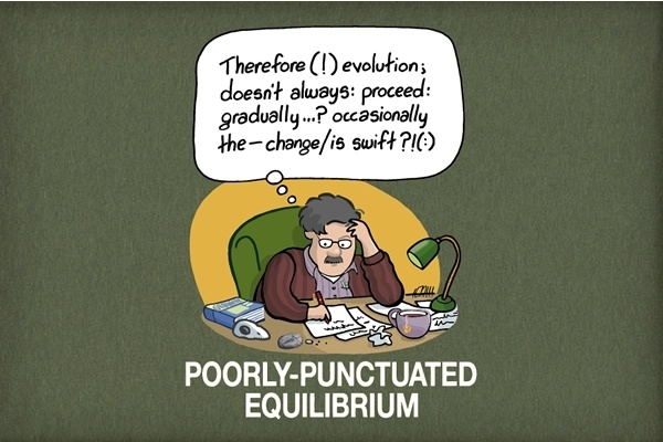 Poorly-Punctuated Equilibrium (with apologies to Stephen Jay Gould and Niles Eldredge).
